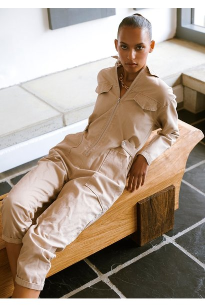 Eivor Twill Jumpsuit TAN