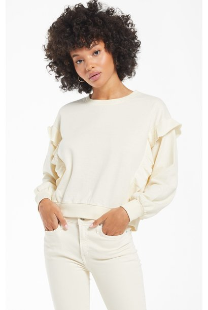 Freya Ruffle Long Sleeve BONE