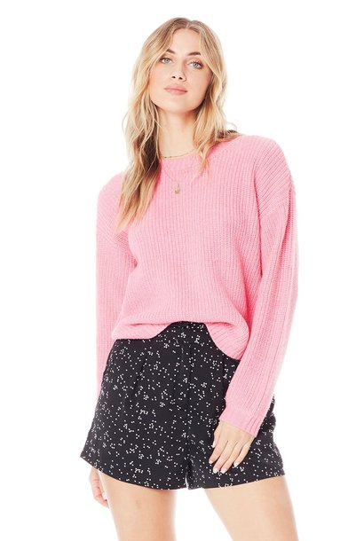 Leila Curved Hem Sweater HPNK
