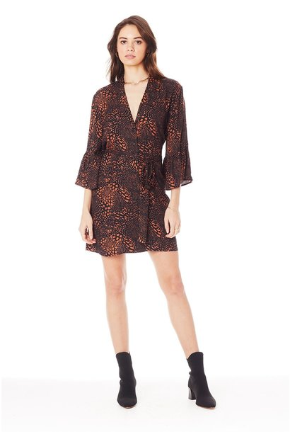 Ada 3/4 Sleeve Tie-Up Dress CINN