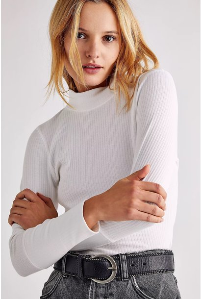 Rickie Turtleneck Top WHT