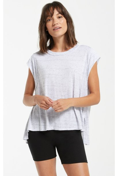 Riley Speckle Tee WHT