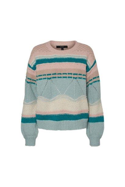 Boho Knit Sweater TEAL