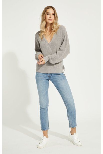 Camille Wrap Sweater OPAL GRY