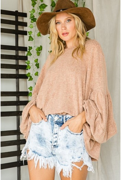 Penny Bishop Sleeve Top SALMON