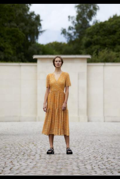 Aldora Floral Dress GLDN