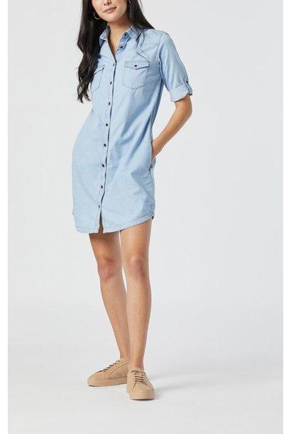 Bree Shirt Dress BLCH DNM