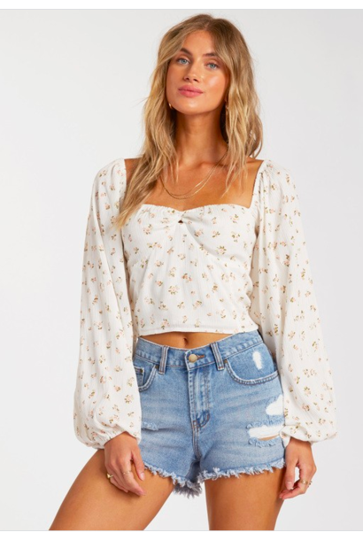 Love Somebody Floral Blouse WHT