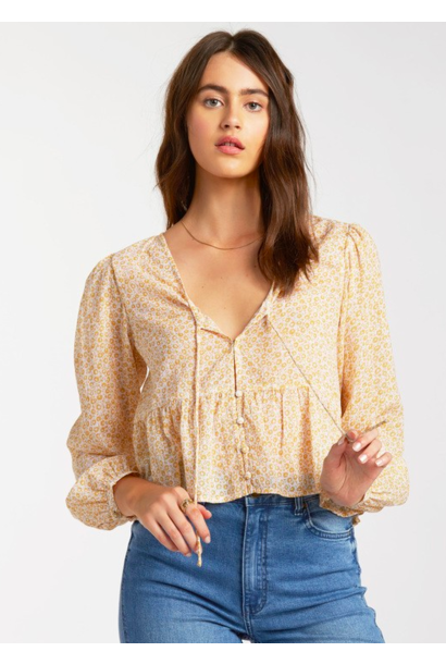 After Dark Floral Blouse YEL