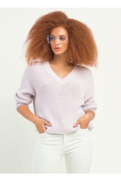 V Neck Sweater LAV
