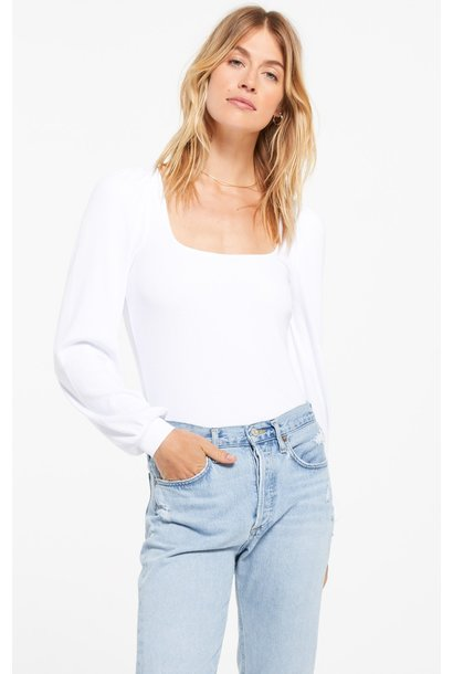 Willow Rib L/S Top WHT