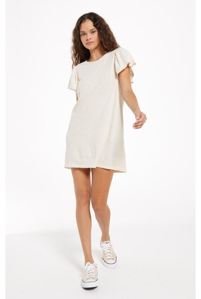 Sofia Cotton Slub Dress BONE