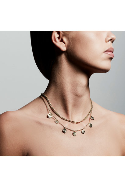 Poesy 2 in 1 Crystal Necklace GLD