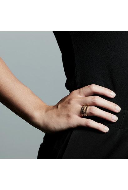 Pilgrim Cherished Ring Set GLD