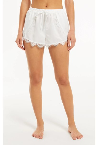 Only Love Satin Short WHT