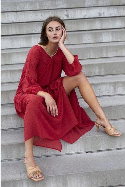 Pearmain Maxi Dress RED
