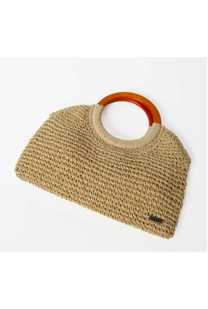 Little Lady Wicker Clutch NAT