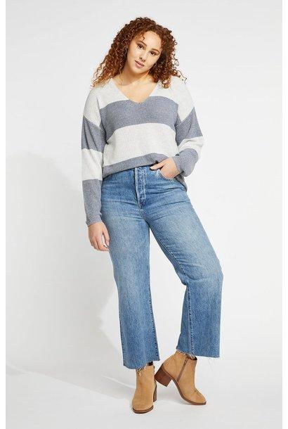 Tucker Stripe Sweater PEW