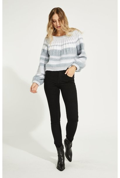 Clarissa Stripe Sweater GRY