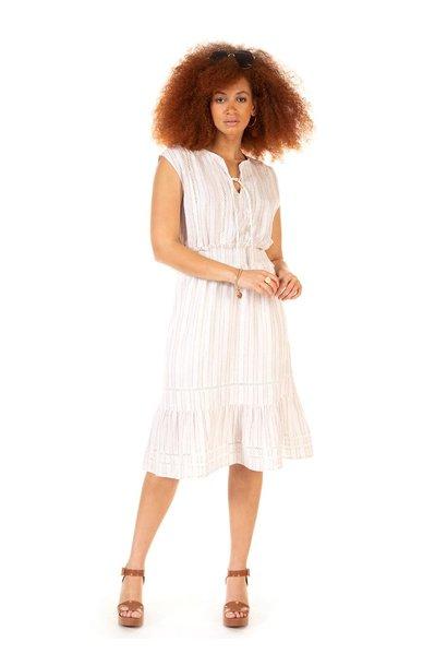 S/L Elastic Waist Stripe Dress CRM