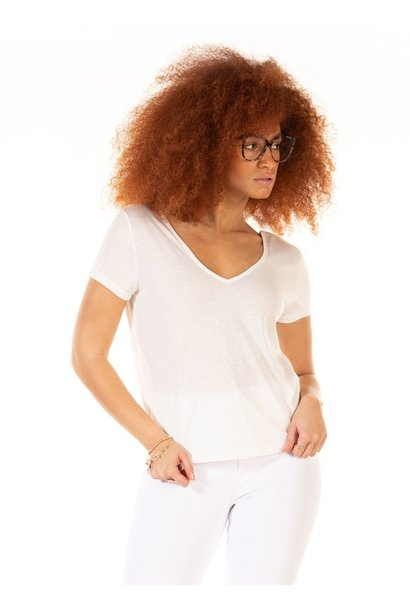 Lace Back Linen Tee CRM