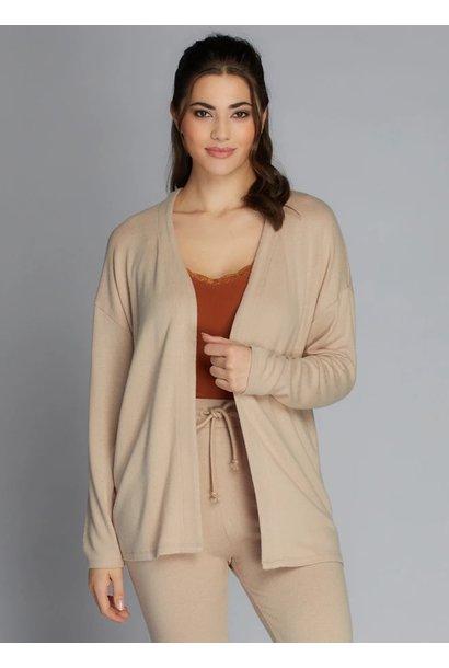 Rayon Open Knit Cardi O/S