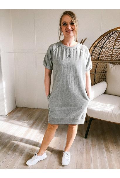 Ruch Sleeve Sweatshirt Dress GRY