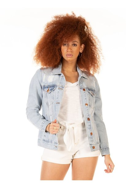 Oversized Denim Jacket LT BLU
