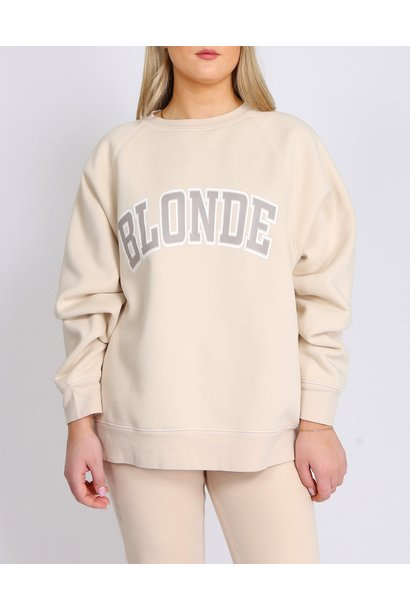Blonde Not Your Boyfriend Crew FRENCH VAN