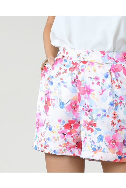 Floral Satin Short PNK