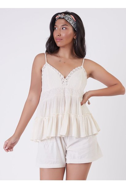 Tiered Embroidered Cami CRM