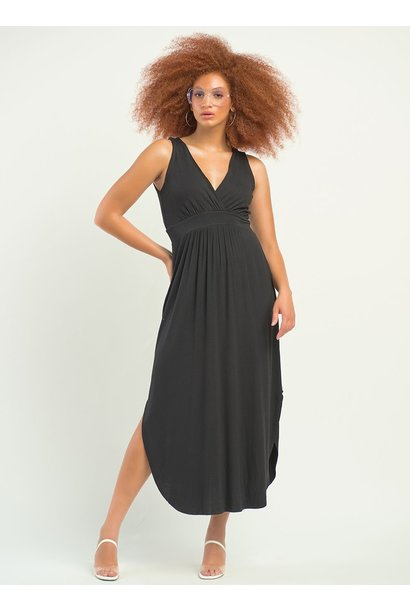 Hi Low Knit Dress BLK