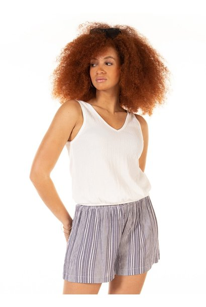Banded Bottom Knit Tank CRM