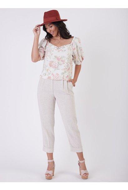 Cuffed Linen Pant LIN