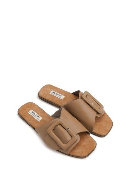 Cyndie Buckle Flat Sandal SOY