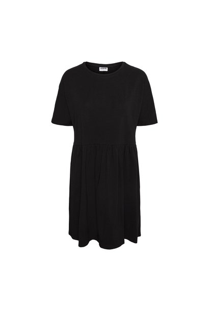 Kerry S/S Tiered Dress BLK
