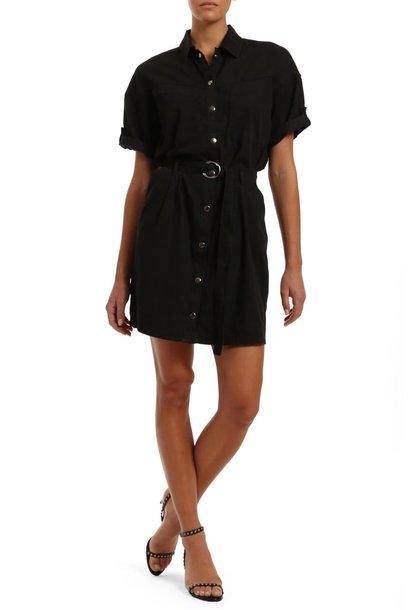 Avery S/S Dress BLK SMK