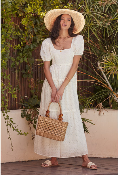 One At A Time Maxi Dress WHT