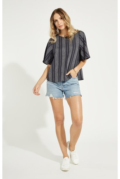 Era Stripe Blouse NVY