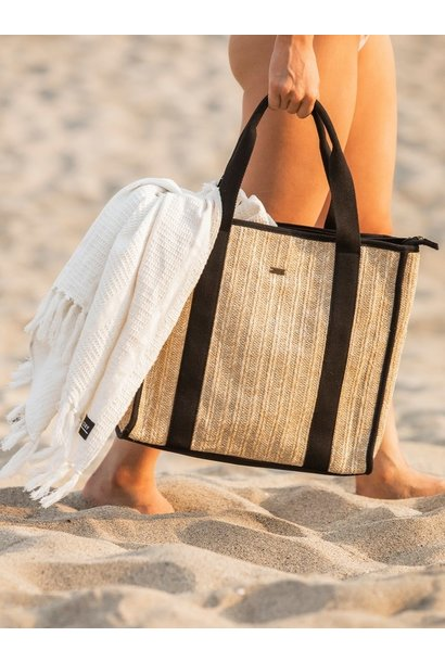 Seas the Day Wicker Tote NAT