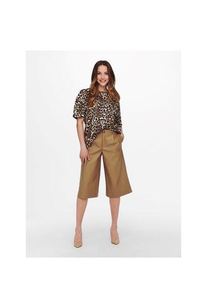 Hera Faux Leather Bermuda Pant