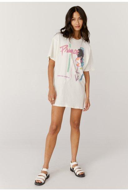 Prince Baby I'm A Star T-shirt Dress WHT