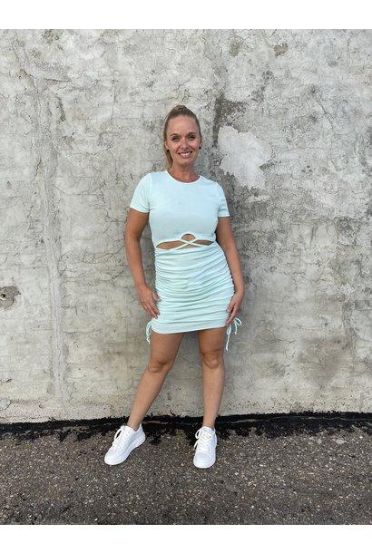 Front Cutout Mini Dress MINT