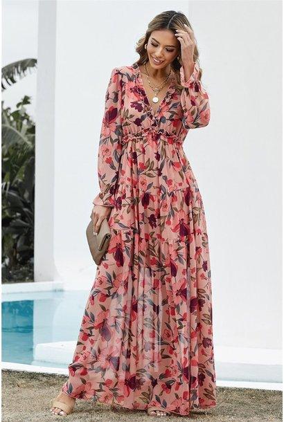 Kelsey Floral Maxi Dress PNK