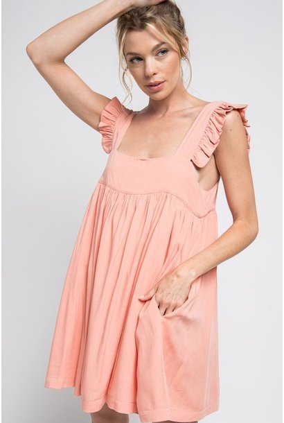 Sadie Frill Strap Dress COR