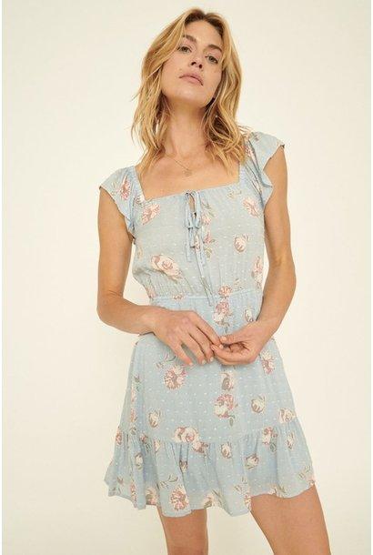 Olivia Swiss Dot Dress BLU