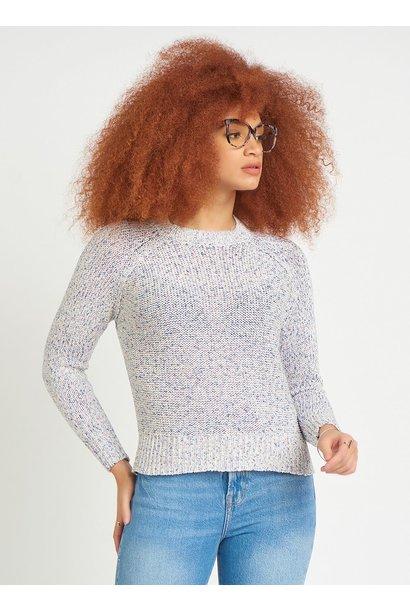 L/S Crew Ribbon Knit Sweater MUL