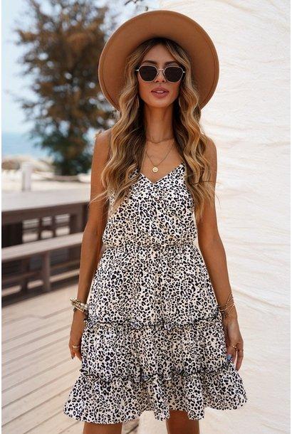 Lexi Leo Mini Dress WHT