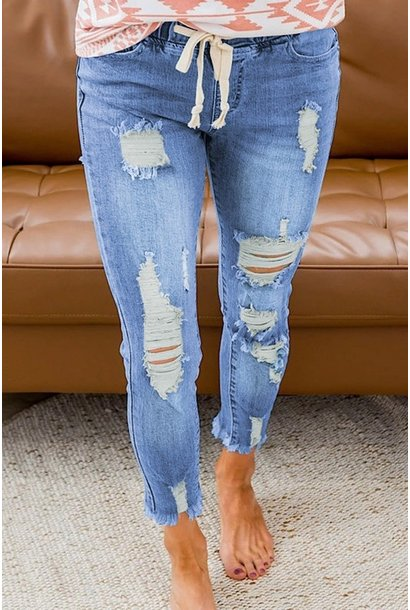 Comfort and Joy Stretch Pull On Jeans BLU