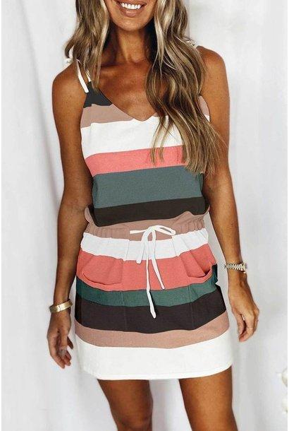 Kristy Stripe Tank Dress MUL